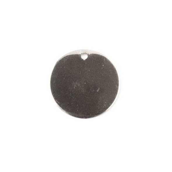 Gun Metal Colored Brass 15mm Coin Drop - 6 per bag - ES7835gm