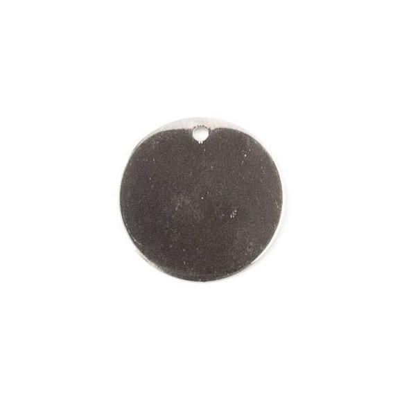 Gun Metal Colored Brass 15mm Coin Drop - 6 per bag - ES7835gm