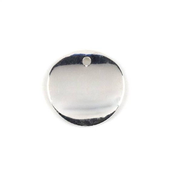 Silver Plated Brass 15mm Curved Coin Drop - 6 per bag - ES7835s