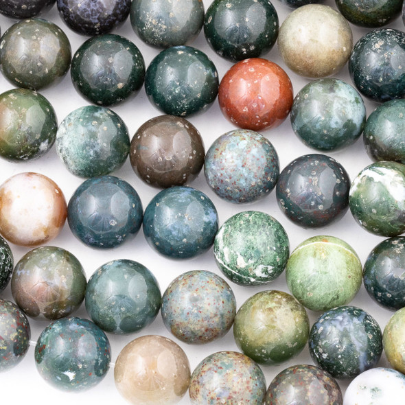 Fancy Jasper 16mm Round Beads - 15 inch strand