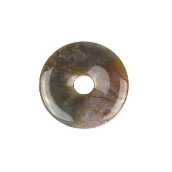Fancy Jasper 45mm Donut Pendant - 1 per bag