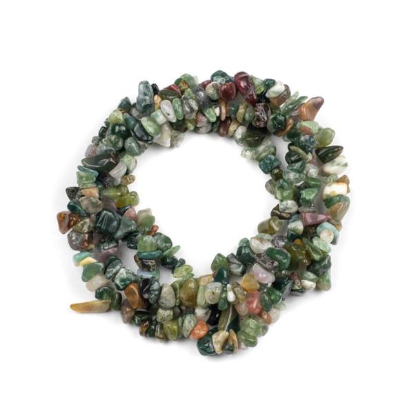 "Fancy Jasper Grade ""B"" 5-8mm Chip Beads - 34"" circular strand"