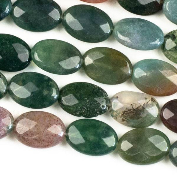 Fancy Jasper 10x14mm Faceted Oval Beads - approx. 8 inch strand, Set B