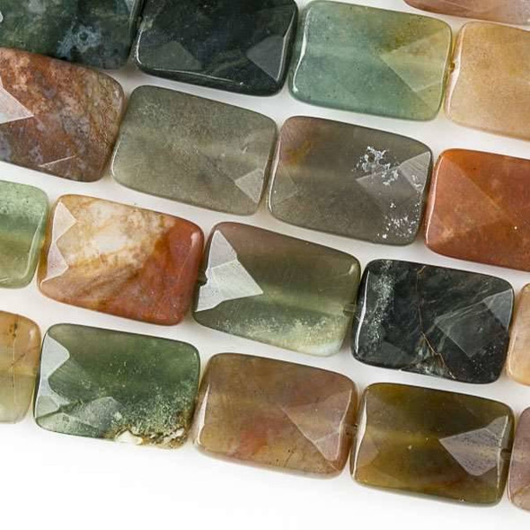 Fancy Jasper 10x14mm Faceted Rectangle Beads - approx. 8 inch strand, Set B