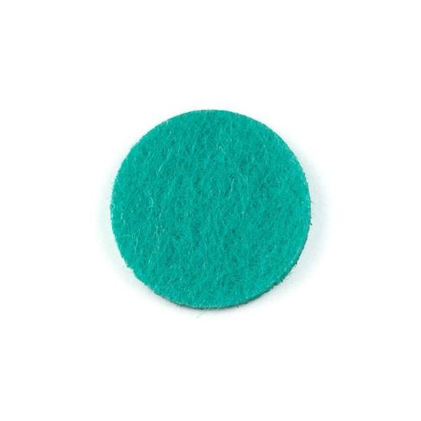 Aqua 3x22mm Felt Oil Diffuser Pads - 3 per bag