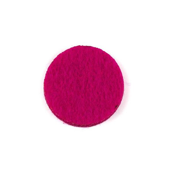 Hot Pink 3x22mm Felt Oil Diffuser Pads - 3 per bag