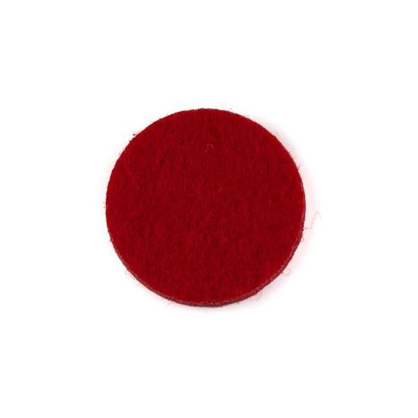 Red 3x22mm Felt Oil Diffuser Pads - 3 per bag