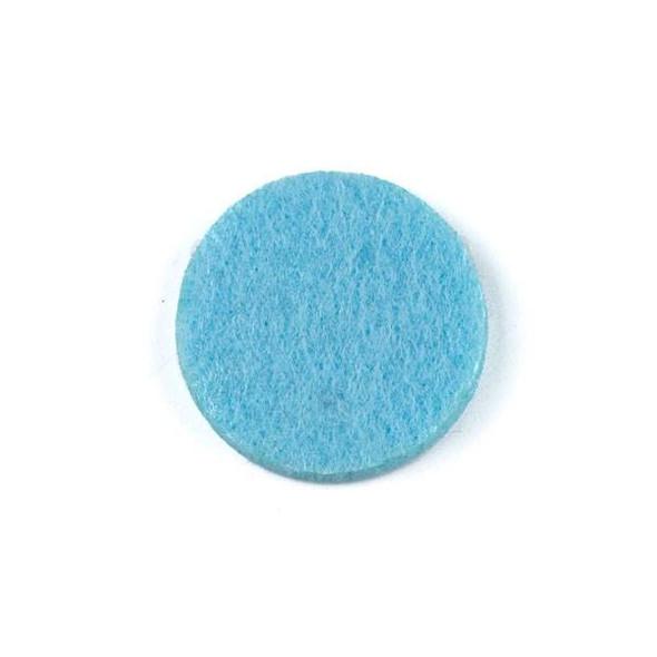 Light Blue 3x22mm Felt Oil Diffuser Pads - 3 per bag