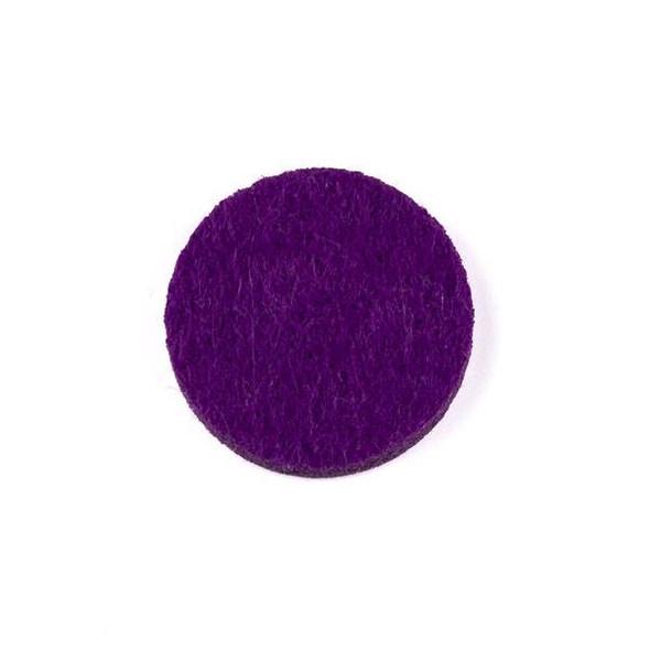 Purple 3x22mm Felt Oil Diffuser Pads - 3 per bag