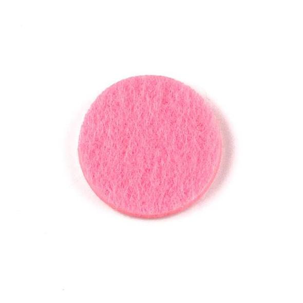 Pink 3x22mm Felt Oil Diffuser Pads - 3 per bag