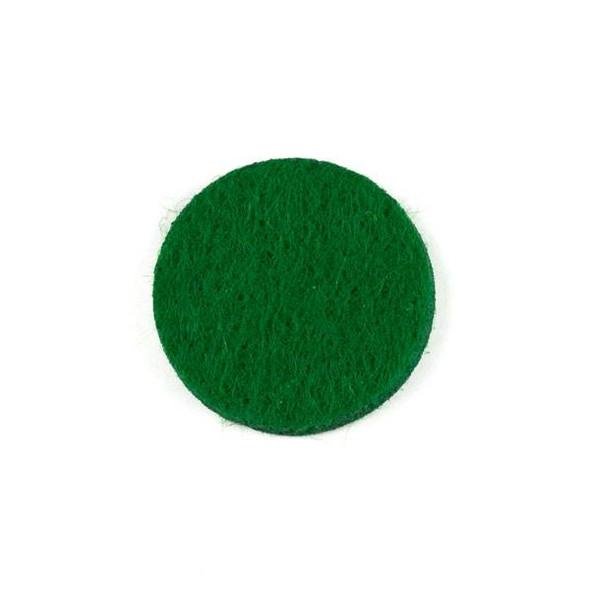 Green 3x22mm Felt Oil Diffuser Pads - 3 per bag