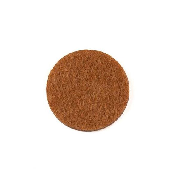 Brown 3x22mm Felt Oil Diffuser Pads - 3 per bag