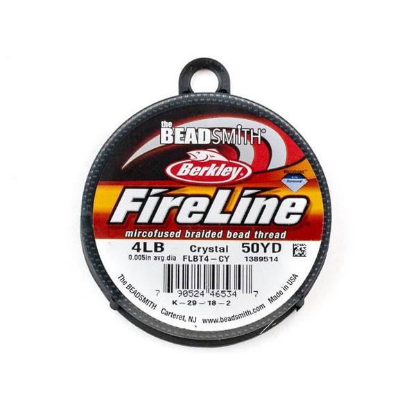 FireLine Microfused Braided Beading Thread - 4 LB (.15mm dia.), Crystal, 50 yard spool