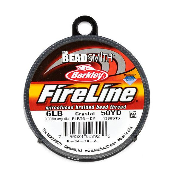 FireLine Microfused Braided Beading Thread - 6 LB (.015mm dia.), Crystal, 50 yard spool