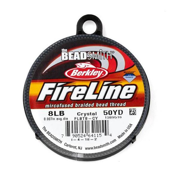 FireLine Microfused Braided Beading Thread - 8 LB (.17mm dia.), Crystal, 50 yard spool