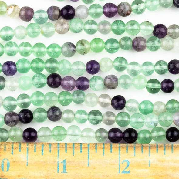 Fluorite 6mm Round Beads - approx. 8 inch strand, Set A