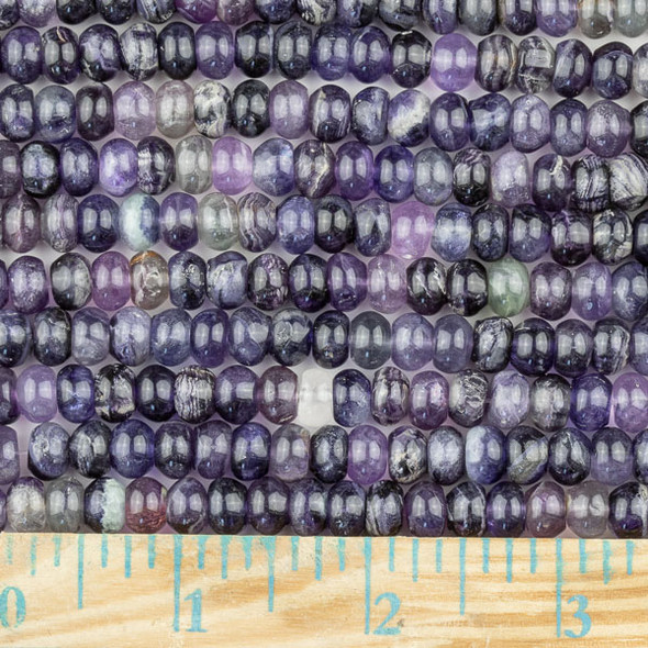 Fluorite  5x8mm Rondelle Beads - approx. 8 inch strand, Set A