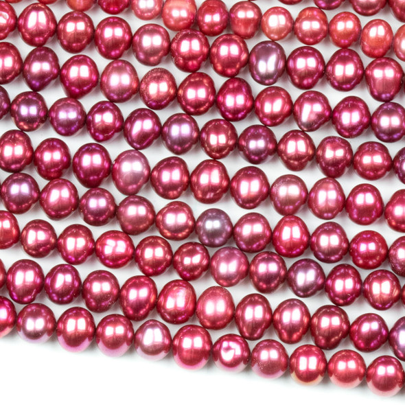 Fresh Water Pearl 4-5mm Hot Pink Potato Beads - 16 inch strand