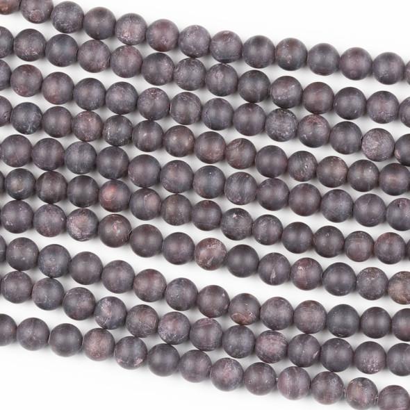 Matte Garnet 6mm Round Beads - 15 inch strand