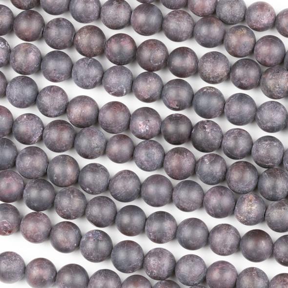Matte Garnet 8mm Round Beads - 15 inch strand