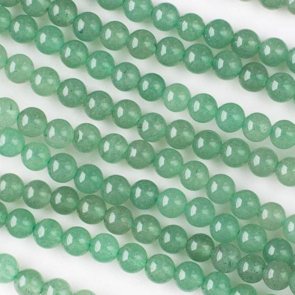 Green Aventurine 6mm Round Beads - 15.5 inch strand