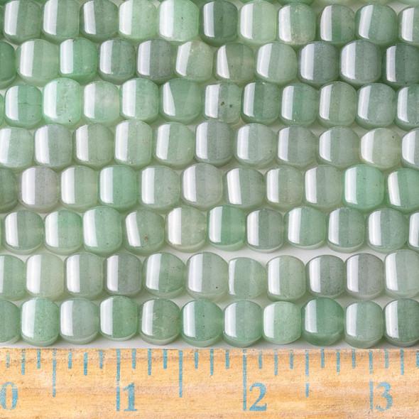 Green Aventurine 8mm Cushion Beads - approx. 8 inch strand, Set A