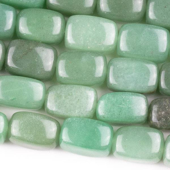 Green Aventurine 10x14mm Nugget Beads - approx. 8 inch strand, Set A
