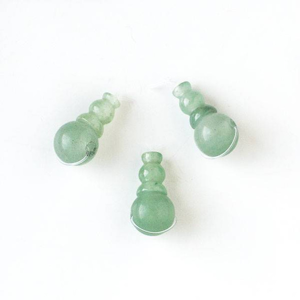 Green Aventurine 10x20mm Guru Bead - 1 per bag