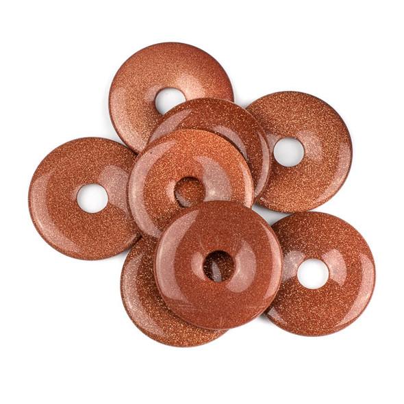 Goldstone 44mm Donut Pendant
