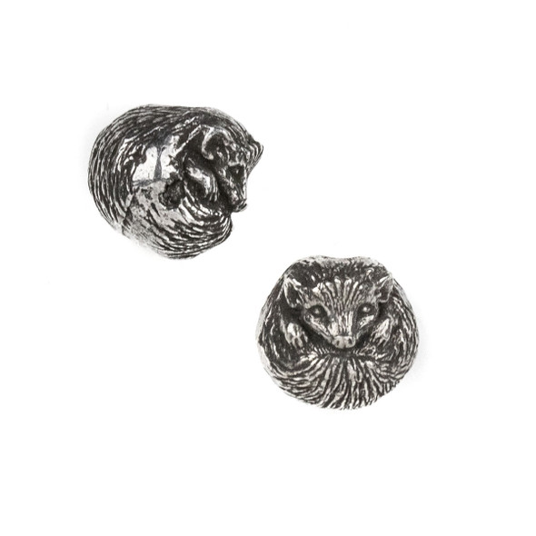 Green Girl Studios Pewter 13mm Hedgehog Bead - 1 per bag