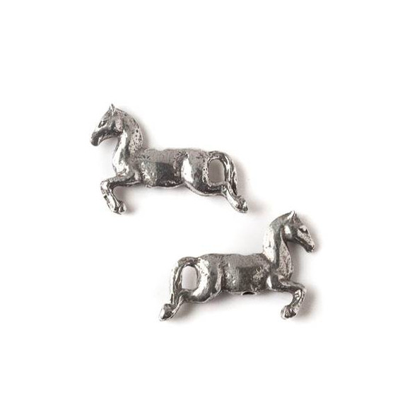 Green Girl Studios Pewter 20x28mm Jumping Pony Bead - 1 per bag