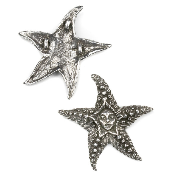Green Girl Studios Pewter 48x50mm Starfish Fairy Bead - 1 per bag