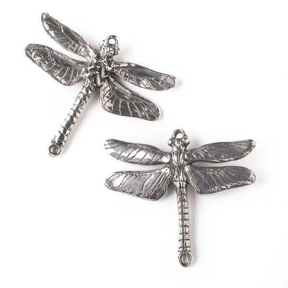 Green Girl Studios Pewter 38x43mm Dragonfly Link Pendant - 1 per bag