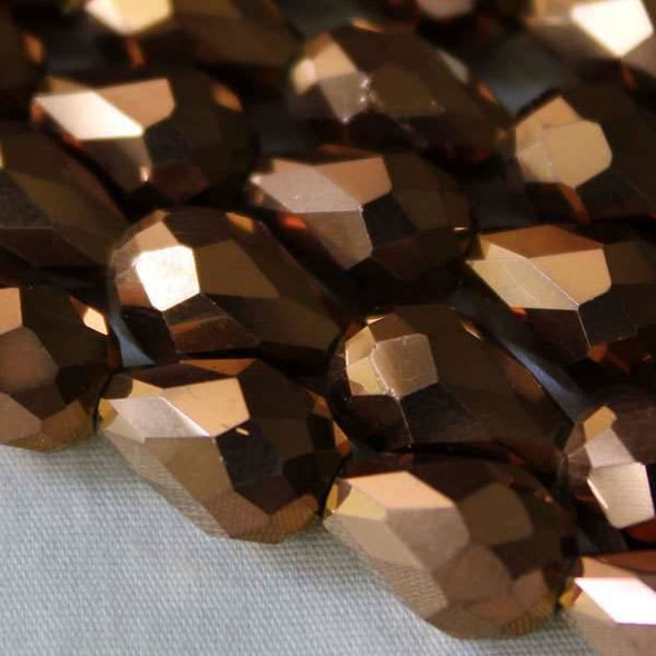 Glass Crystal 8x11mm Copper Rounded Teardrop