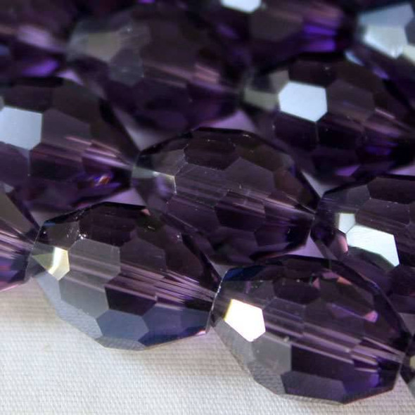 Glass Crystal Faceted 10x13mm Lilac Rice - approx. 8 inch strand