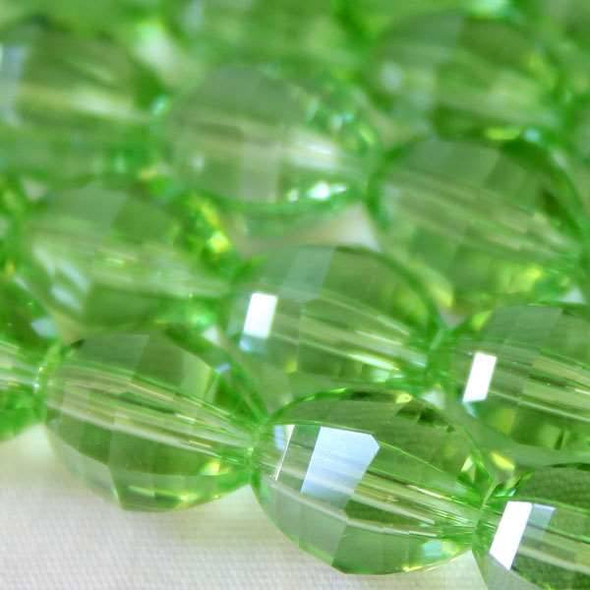 Glass Crystal Faceted 8x10mm Chrysolite Rice - 8 Inch Strand
