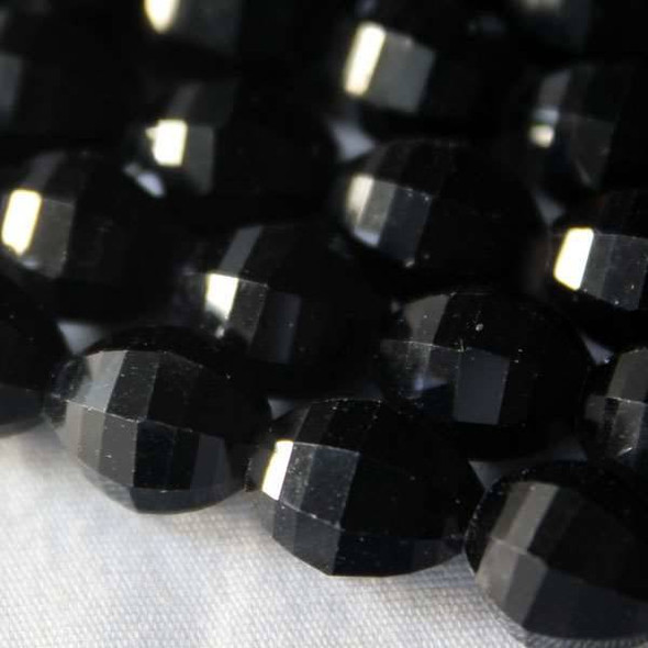Glass Crystal Faceted 8x10mm Jet Rice - 8 Inch Strand