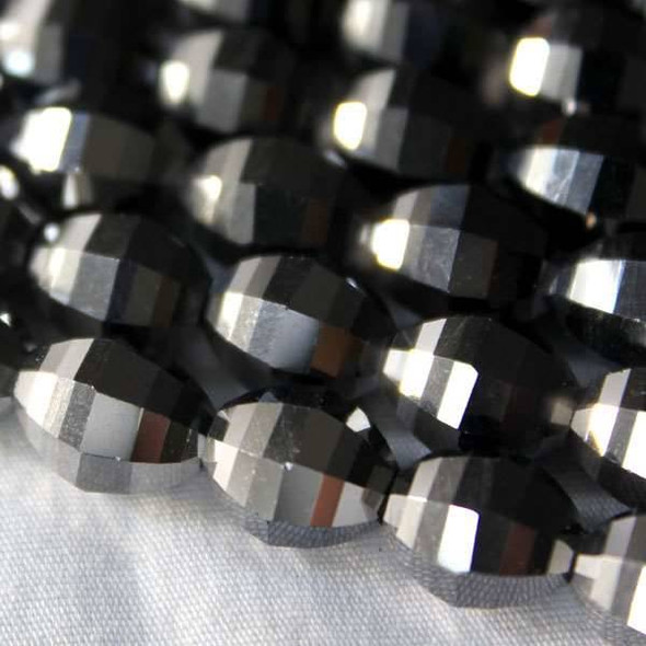 Glass Crystal Faceted 8x10mm Silver Rice - 8 Inch Strand
