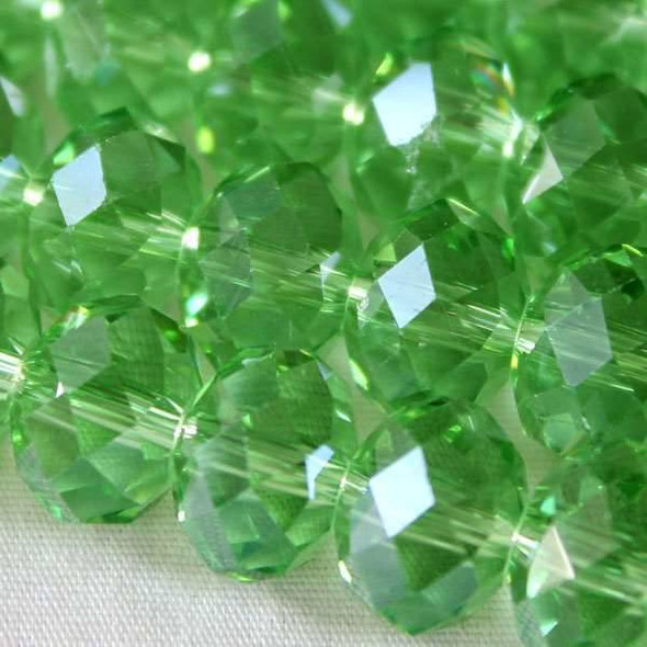 Crystal Faceted 7x10mm Chrysolite Rondelle