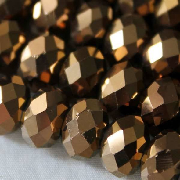 Crystal Faceted 7x10mm Copper Rondelle