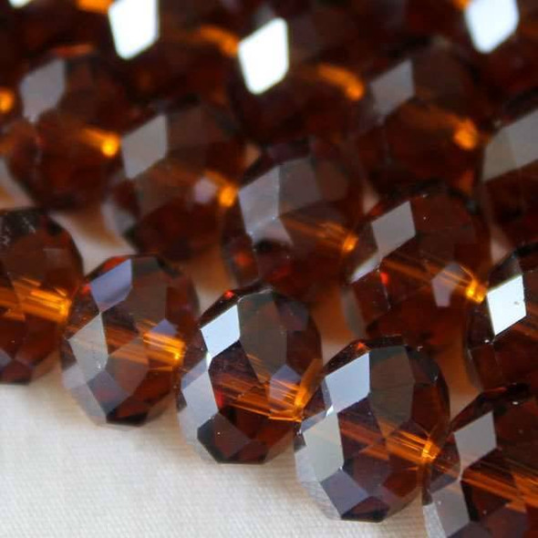 Crystal Faceted 7x10mm Topaz Rondelle