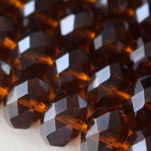 Crystal Faceted 8x12mm Topaz Rondelle