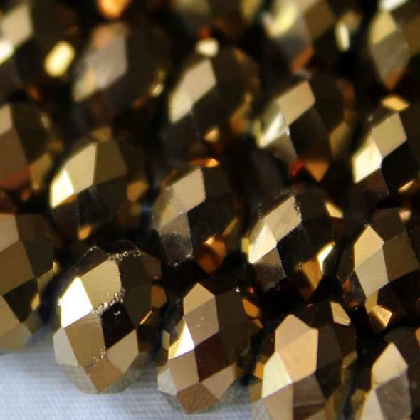 Crystal 6x8mm Copper Faceted Rondelles
