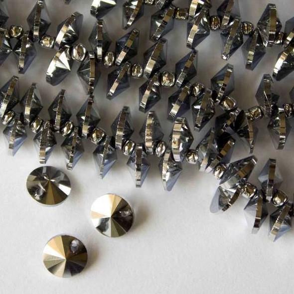 Crystal 8mm Hematite Top Drilled Satellite - 6 Inch Strand