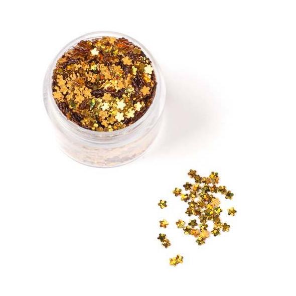 Gold Flower Glitter - 15 gram container