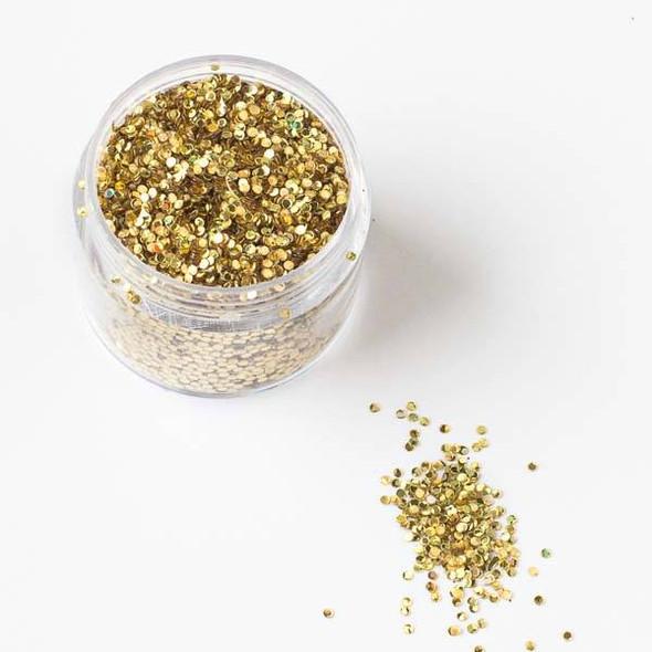 Gold Confetti Glitter - 15 gram container