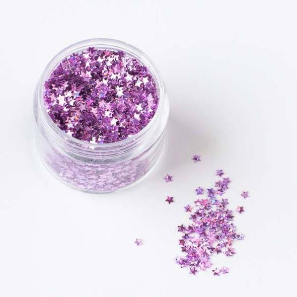 Lavender Purple Star Glitter - 15 gram container