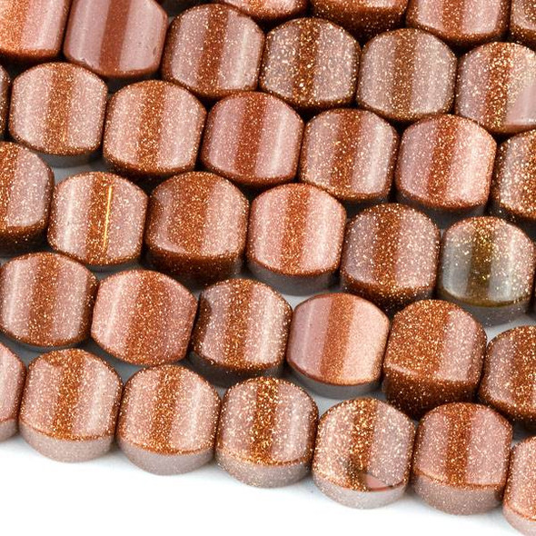 Goldstone 8mm Cushion Beads - approx. 8 inch strand, Set A