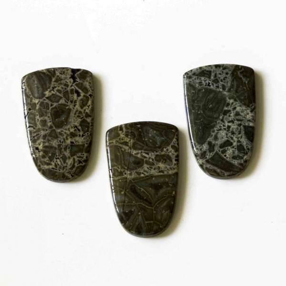 Australian Green Lace Jasper 20x32mm Flag Cabochon
