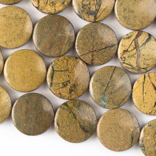 Green Line Jasper 18mm Coin